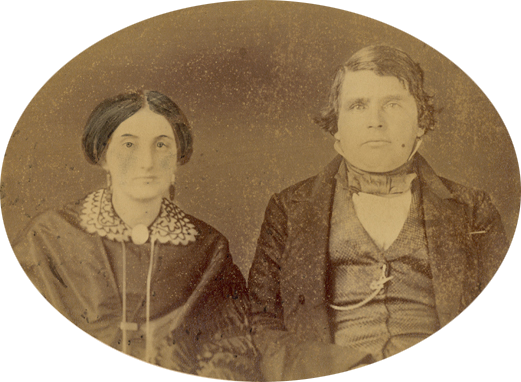 Emma and Edward Hutter in Victorian dress